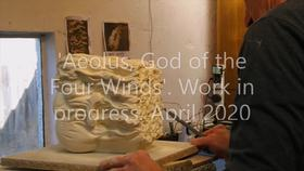 Artist Video Aeolus God of the Four Winds Work in progress by Austen Pinkerton