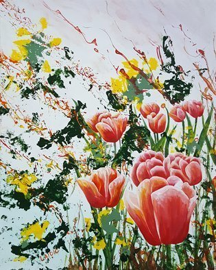 Aarron Laidig; Edge Of A Tulip Garden, 2017, Original Painting Acrylic, 16 x 20 inches. Artwork description: 241 Edge Of A tulip Garden by Aarron Laidig. Expressive floral painting on canvas. ...