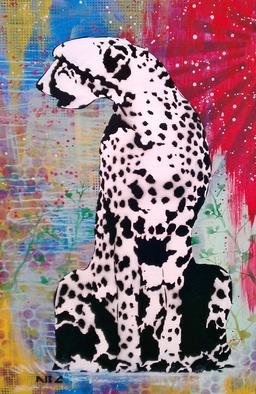 Bryce Chisholm; Lost Colors, 2012, Original Painting Other, 24 x 36 inches. Artwork description: 241   Animals are becoming extinct at an extraordinary rate. A cheetah losing his color the first stage.Spray paint and acrylic on a 24x24in gallery wrapped canvas.    ...