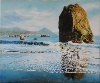Abed Alem; Seascape , 2010, Original Painting Oil, 60 x 50 cm. Artwork description: 241   sea seascape  abed alem  Ocean ...