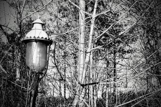 Kenny Mcmahan; Lonely Illumination, 2020, Original Photography Black and White, 8 x 10 inches. Artwork description: 241 Lonely lightpost unused in the daylight , caught my eye. Digital photo.  Can be made in prints bigger than 8x10...