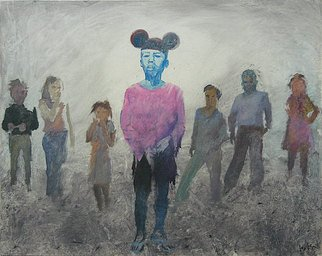 Angelo Bonito; Mickeyboy, 2008, Original Painting Acrylic, 100 x 80 cm. Artwork description: 241  poor childrens like rats trying find something in the trash depot       ...
