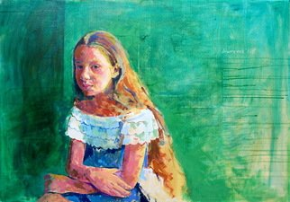 Lawrence Buttigieg; Felicia I, 2008, Original Painting Oil, 100 x 70 cm.