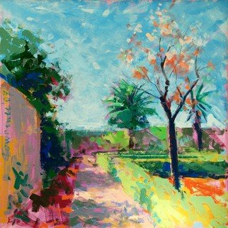 Lawrence Buttigieg; Garden At Zejtun, 2007, Original Painting Oil, 50 x 50 cm.