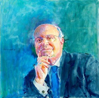 Lawrence Buttigieg; Hon Francis Zammit Dimech , 2007, Original Painting Oil, 80 x 80 cm.
