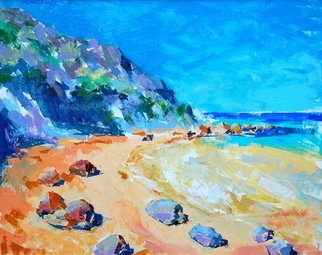 Lawrence Buttigieg; San Blas Gozo, 2008, Original Painting Oil, 50 x 40 cm.
