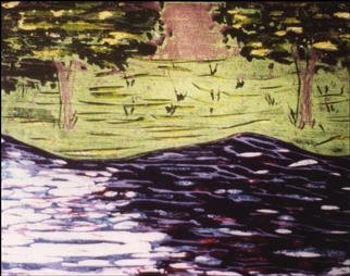 Stephanie Hayden; Lake At Camelot, 2002, Original Printmaking Other, 10 x 8 inches. Artwork description: 241 # 6 of 10...