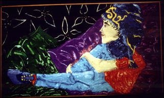 Stephanie Hayden; Man At Rest, 2002, Original Painting Acrylic, 42 x 24 inches.