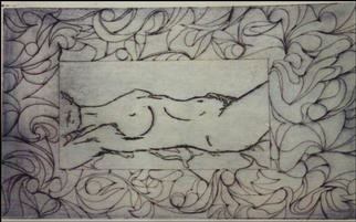 Stephanie Hayden; Violet Woman, 2002, Original Printmaking Lithography, 16 x 9 inches. Artwork description: 241 # 12 of 15...