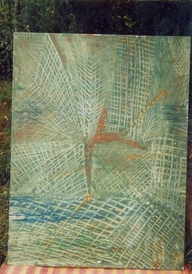 Zlatko Turkmanovic; Abstract 5, 2003, Original Painting Oil, 151 x 100 cm. Artwork description: 241      Abstract on big canvas expresionism oil on canvas      ...