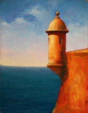 Angel Cruz; El Morro B3, 2014, Original Painting Oil, 10.5 x 13.5 inches. Artwork description: 241  El Morro from a series of paintings of the same subject.  ...