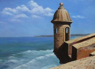 Angel Cruz; El Morro Puerto Rico, 2015, Original Painting Oil, 36 x 27 inches. Artwork description: 241 Puerto RicoEl Morro castle in Old San Juan.Oil painting on stretched canvas. ...