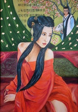 Nadezhda Wenzel; Thoughts About Love, 2015, Original Painting Oil, 35 x 50 cm. Artwork description: 241   Chinese woman, love  ...