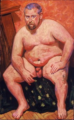Adeline Goldminc Tronzo; DAVID, 1999, Original Painting Oil, 30 x 48 inches.