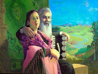 Adeline Goldminc Tronzo; ROMANI MUSICIANS, 2007, Original Painting Oil, 40 x 30 inches.