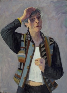 Adeline Goldminc Tronzo; SELF PORTRAIT, 2005, Original Painting Oil, 24 x 34 inches.