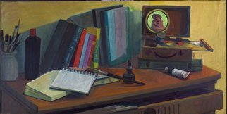 Adeline Goldminc Tronzo; STUDIO TABLE, 2006, Original Painting Oil, 40 x 20 inches.