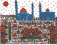 Artist: Adib Fattal's, title: The Sultan Hasan Mosque in ..., 2007, Drawing Marker