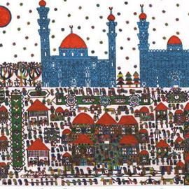 Adib Fattal, The Sultan Hasan Mosque in ..., 2007, Original Drawing Marker, size_width{The_Sultan_Hasan_Mosque_in_Egypt-1197040616.jpg} X 36 x  cm