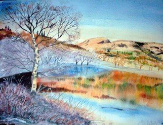 Alan Doherty; GRASMERE MIXED MEDIA PAINTING, 2008, Original Mixed Media, 22 x 16.5 inches. Artwork description: 241  PAINTED THIS PARTICULAR SCENE FROM A PHOTOGRAPH I SAW IN THE NEWSPAPER HIGHLIGHTING A GLORIOUS WINTER LAKE DISTRICT FROSTY DAY ...