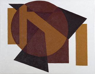 Anders Hingel; Geometric Abstract In Brown, 2015, Original Printmaking Giclee, 92 x 73 cm. Artwork description: 241  Acrylic paint, gesso on canvasIt is printed on Canson Infinity Rag, 100 cotton museum grade white Fine Art paper or similar by ARKA Laboratoire, Parisyellow, brown, abstract...