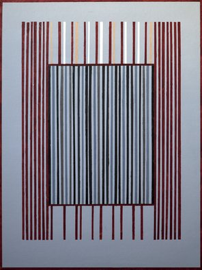 Anders Hingel; Grey Space Iv, 2017, Original Printmaking Giclee, 60 x 80 cm. Artwork description: 241 It is printed on Canson Infinity Rag, 100  cotton museum grade white Fine Art paper or similar by ARKA Laboratoire, ParisKeywords: square, vertical, window, escape, illusion, lines...