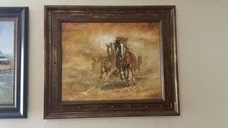 Ahmed Alkarkhi; Horses, 2020, Original Animation, 28.2 x 26.2 inches. Artwork description: 241 Horses symbolize beauty, strength and elegance in motion...