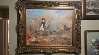 Ahmed Alkarkhi; Horses And Desert, 2020, Original Painting Oil, 38.2 x 26 inches. Artwork description: 241 Horses and the desert Horses symbolize strength, patience, and intelligence...