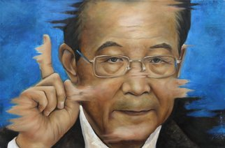 Wong Pun Kin; Portrait Of Wen Jia Bao, 2013, Original Painting Oil, 105 x 97 cm. Artwork description: 241  Portrait of Wen Jia Bao, oil painting,     ...
