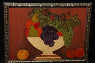 Aisha Mian; Fruit Attractions, 2009, Original Painting Oil, 24 x 18 inches.