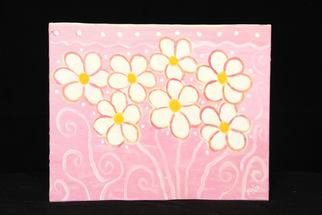 Aisha Mian; Pink In Daisies, 2009, Original Painting Oil, 20 x 16 inches.