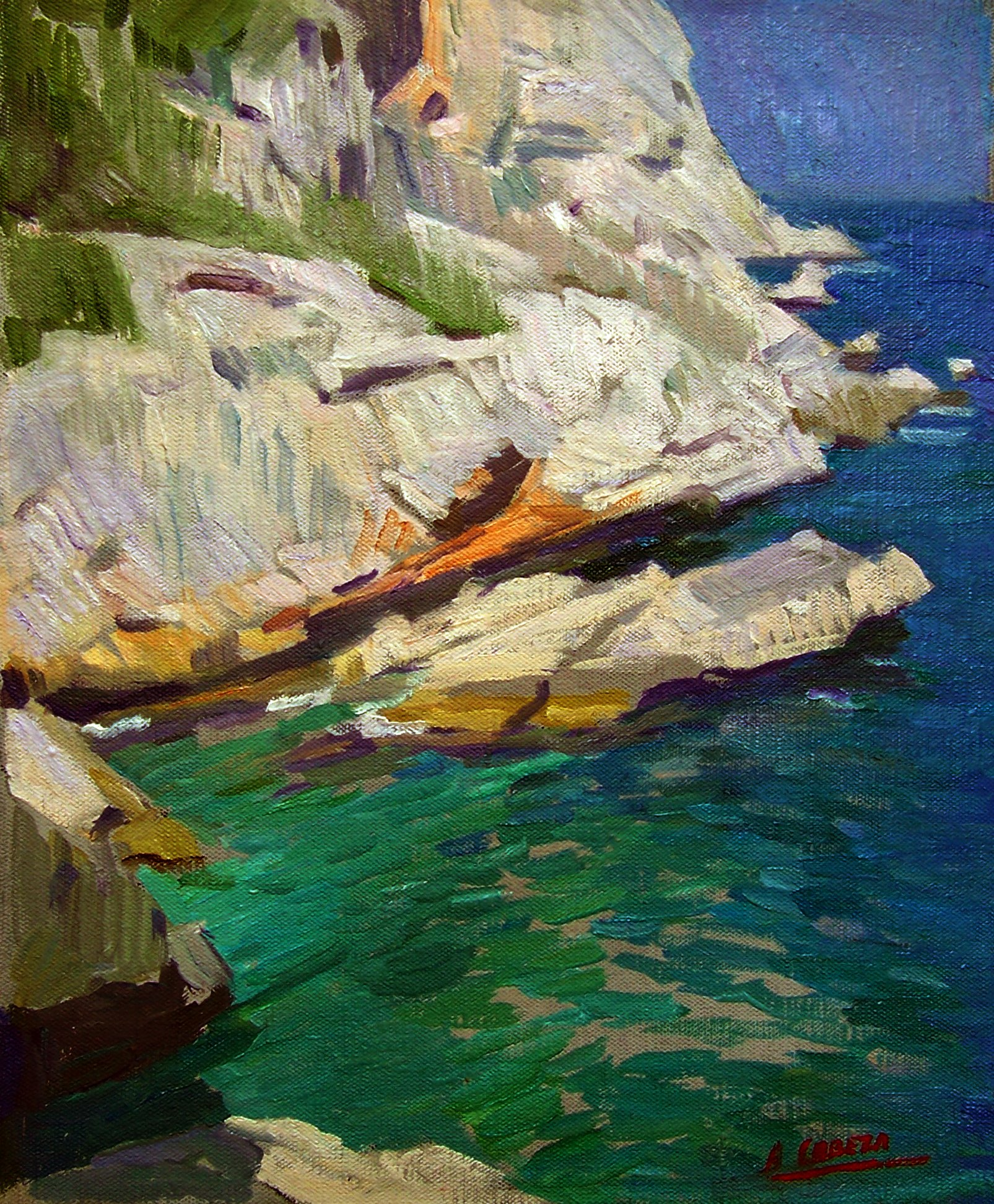 Alejandro Cabeza; Tango Cove Of Javea, 2008, Original Painting Oil, 46 x 38 . Artwork description: 241 Tango cove of Javea...