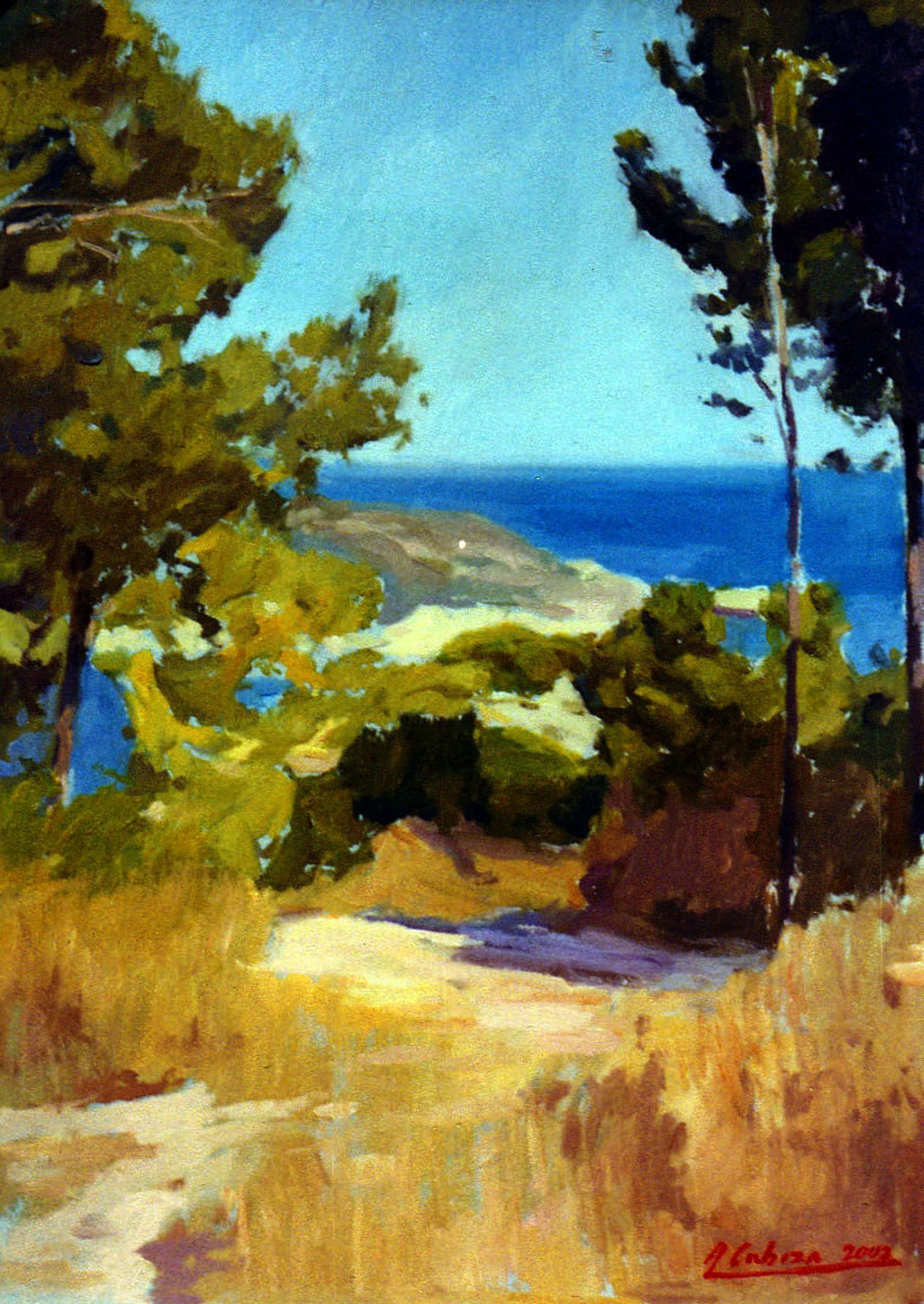 Alejandro Cabeza; Javea Trees, 2006, Original Painting Oil, 46 x 33 . Artwork description: 241 Javea trees...