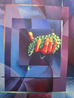 Alejandro Del Valle; Esfuerzos, 1999, Original Painting Acrylic, 60 x 80 cm. Artwork description: 241  hand of farmer with the product of your effort ...
