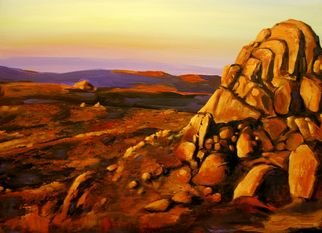 G Sfougaras; Cathedral Rock, 2008, Original Painting Acrylic, 60 x 50 cm. Artwork description: 241  A strongly lit desert landscape evocative of so much of the Australian outback.  ...