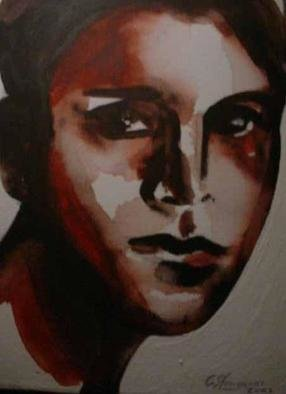 G Sfougaras; Younger, 2003, Original Painting Acrylic, 20 x 30 cm. Artwork description: 241 a simple portait...