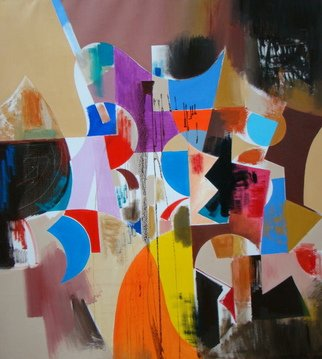 Alexander Sadoyan; Selebration, 2010, Original Painting Oil, 39 x 41 inches. Artwork description: 241    Abstract painting   ...