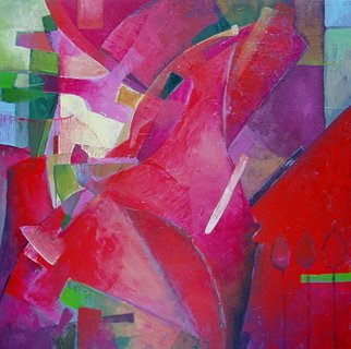 Alexandra Kruglyak-Zecevic; Abstract Rose, 2007, Original Painting Acrylic, 18 x 18 inches.