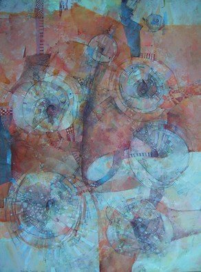 Alexandra Kruglyak-Zecevic; Airie, 2007, Original Painting Acrylic, 30 x 40 inches. Artwork description: 241  Very warm, elegant, textured painting, created with love. ...