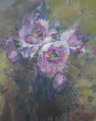 Alexandra Kruglyak-Zecevic; Pale Poppies, 2010, Original Painting Acrylic, 20 x 24 inches. Artwork description: 241     Sides of this painting are painted, can be displayed unframed.    ...
