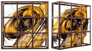 Alexey Klimov, Past continuous in yellow, 2009, Original Sculpture Steel, size_width{past_continuous_in_yellow-1487005468.jpg} X 36 x  inches