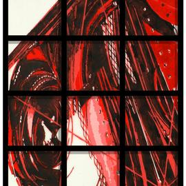Alexey Klimov, , 2009, Original Painting Other, size_width{timeless_behind_bars_in_red-1483463217.jpg} X 30 inches