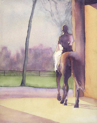 Alexis Burris, Leaving The Barn, 2000, Original Printmaking Giclee, size_width{Leaving_The_Barn-1177381906.jpg} X 18 inches