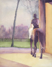 Artist: Alexis Burris', title: Leaving The Barn, 2000, Printmaking Giclee