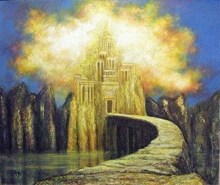 Alexandr Ivanov; Castle Of Dreams, 2015, Original Painting Oil, 55 x 40 cm. Artwork description: 241      fantastic landscape        ...