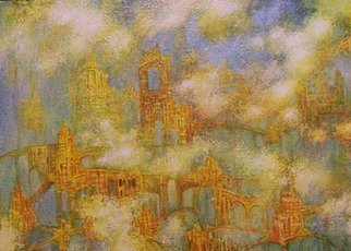 Alexandr Ivanov; Gold Taun, 2012, Original Painting Oil, 70 x 50 cm. Artwork description: 241    fantastic landscape      ...