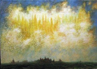 Alexandr Ivanov; Sky, 2012, Original Painting Oil, 70 x 40 cm. Artwork description: 241 women. art. ...