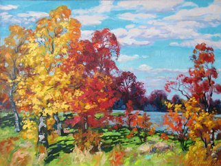 Alexander Bezrodnykh; Autumn, 2016, Original Painting Oil, 80 x 60 cm. Artwork description: 241 Autumn, trees, day...