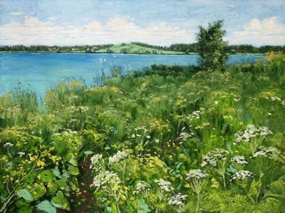 Alexander Bezrodnykh; Pathway Lake, 2017, Original Painting Oil, 80 x 60 cm. Artwork description: 241 Pathway. Lake...