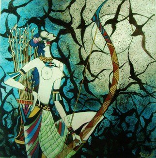 Alice Yang; Hunting, 2009, Original Painting Acrylic, 26 x 26 inches. Artwork description: 241  26 x 26 Acrylic on masonic                                               ...